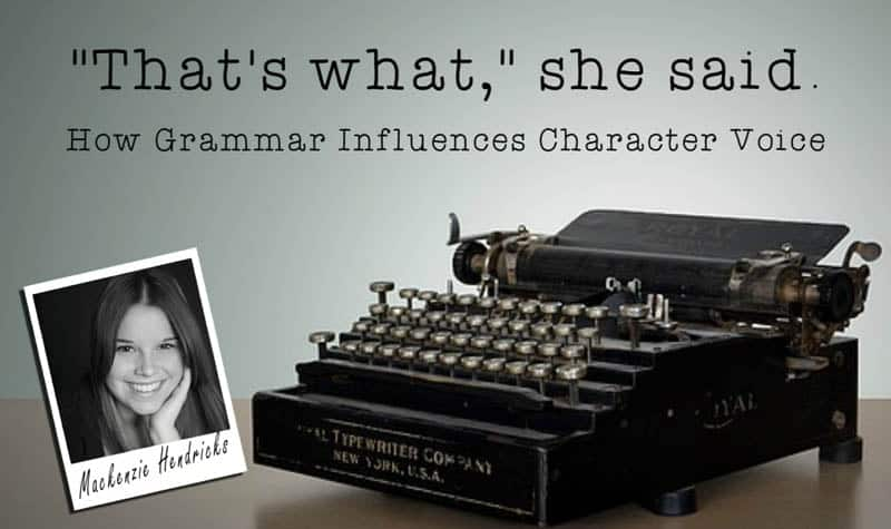 How Grammar Influences Character Voice